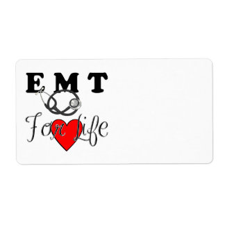 EMT For Life Label