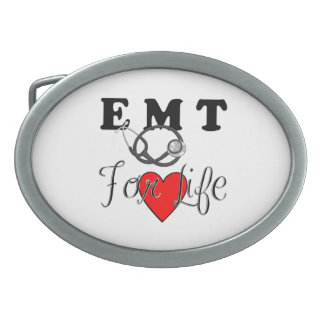 EMT For Life Oval Belt Buckle