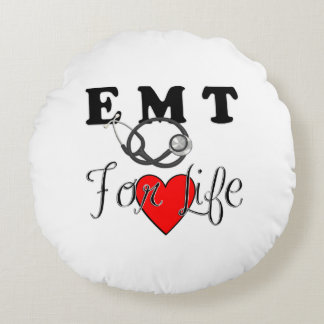 EMT For Life Round Pillow