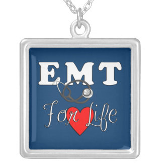 EMT For Life Square Pendant Necklace
