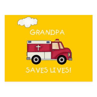 EMT Grandpa Saves Lives Tshirts and Gifts Post Card