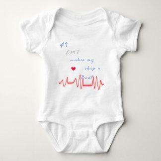 EMT heart beat Baby Bodysuit