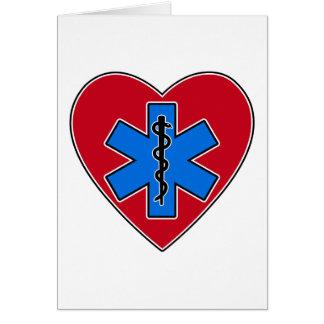 EMT Heart Greeting Card