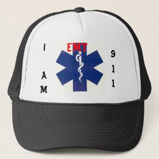 emt i am 911 trucker hat