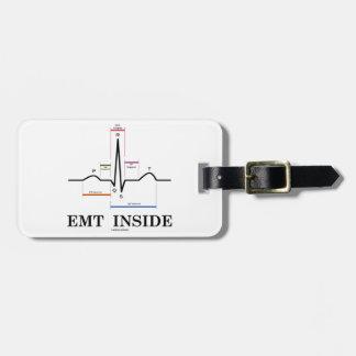 EMT Inside (Sinus Rhythm Electrocardiogram) Luggage Tag