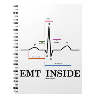 EMT Inside (Sinus Rhythm Electrocardiogram) Spiral Note Book
