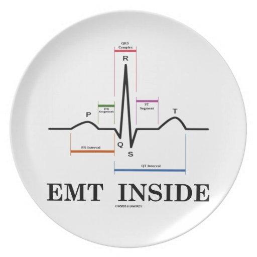 EMT Inside (Sinus Rhythm Electrocardiogram) Dinner Plate