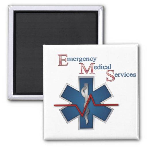 EMT Life Line 2 Inch Square Magnet