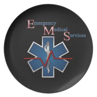 EMT Life Line Dinner Plate