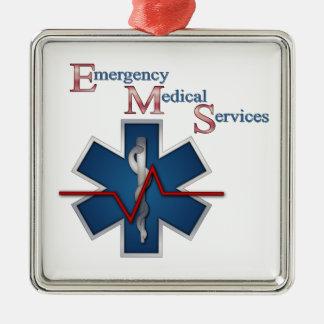 EMT Life Line Metal Ornament