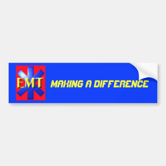 emt, Making a Difference Car Bumper Sticker