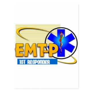 EMT-P 1ST RESPONDER EMERGENCY MED TECH PARAMEDIC POSTCARD