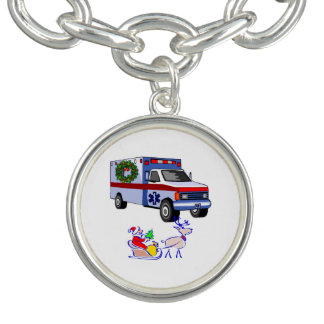 EMT Paramedic Christmas Charm Bracelets