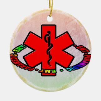 EMT PARAMEDIC CHRISTMAS ORNAMENT MEDICAL CROSS