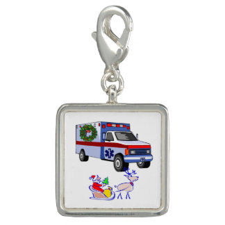 EMT Paramedic Christmas Photo Charms