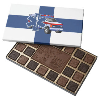 EMT Paramedic EMS Ambulance 45 Piece Box Of Chocolates