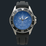 """EMT Paramedic Symbol Custom Name Watch<br><div class=""""desc"""">A great gift to celebrate those men and women who a save lives day to day.</div>"""