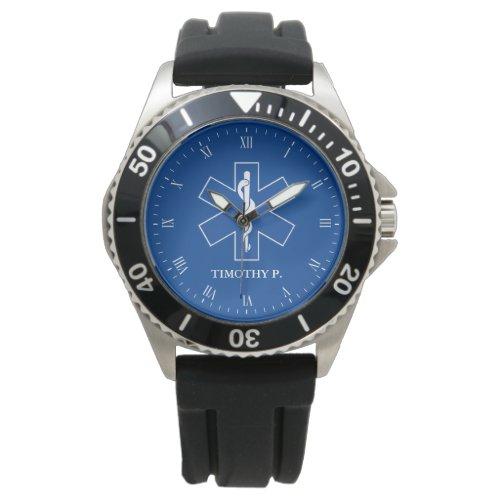 EMT Paramedic Symbol Custom Name Watch