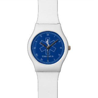 EMT Paramedic Symbol Custom Wristwatch