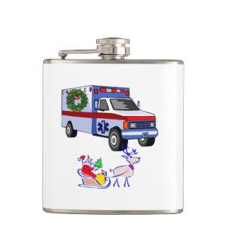 EMT Paramedics Christmas Hip Flask