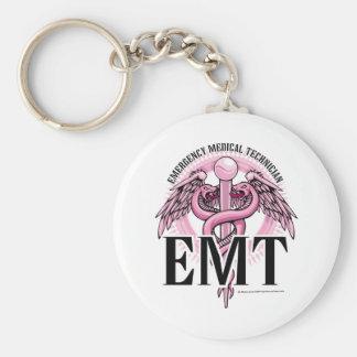 EMT Pink Caduceus Keychain