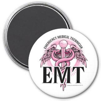 EMT Pink Caduceus Magnet