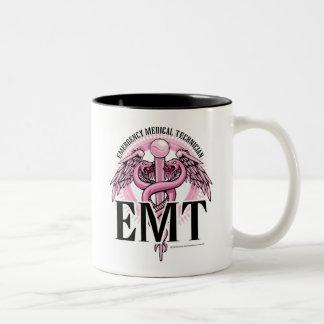 EMT Pink Caduceus Two-Tone Coffee Mug