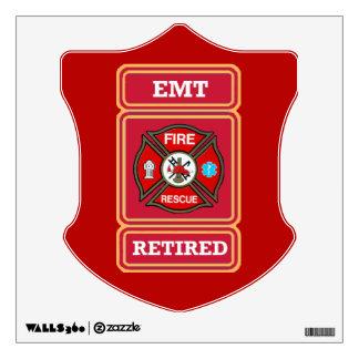 EMT Retired Maltese Cross Shield Wall Sticker
