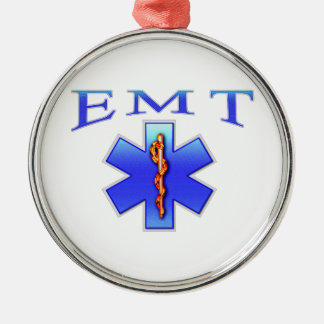 EMT ROUND METAL CHRISTMAS ORNAMENT