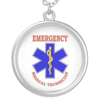 EMT ROUND PENDANT NECKLACE