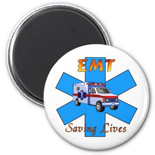 EMT Saving Lives 2 Inch Round Magnet