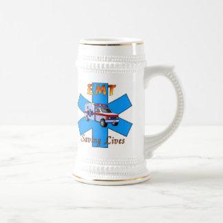 EMT Saving Lives Beer Stein