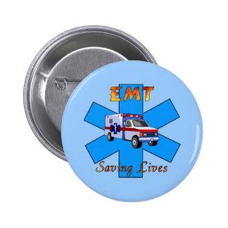 EMT Saving Lives Pinback Button