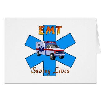 EMT Saving Lives Card