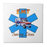 EMT Saving Lives Ceramic Tile