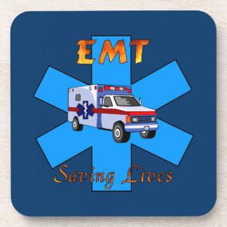 EMT Saving Lives Drink Coaster