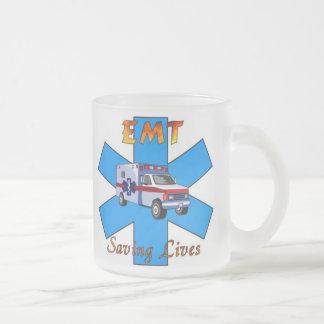 EMT Saving Lives Frosted Glass Coffee Mug