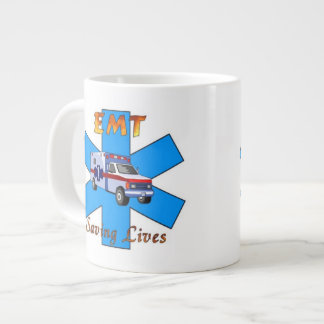 EMT Saving Lives Giant Coffee Mug