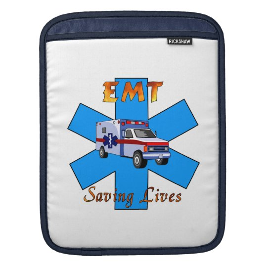 EMT Saving Lives iPad Sleeve