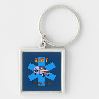 EMT Saving Lives Keychain