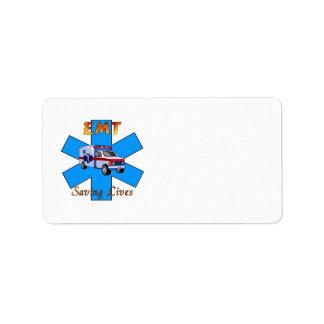 EMT Saving Lives Label