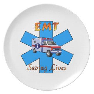 EMT Saving Lives Plate