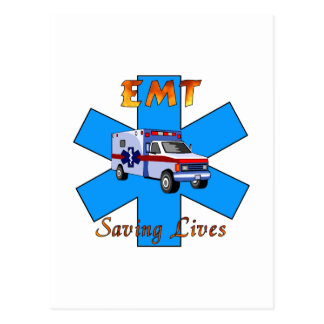 EMT Saving Lives Postcard