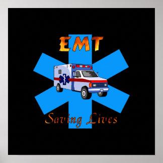 EMT Saving Lives Poster