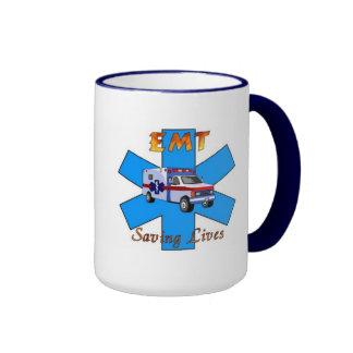 EMT Saving Lives Ringer Mug