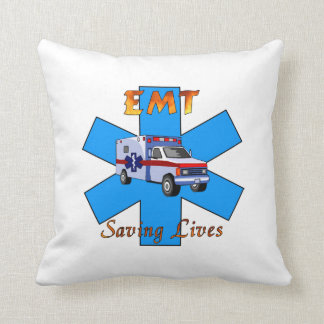 EMT Saving Lives Throw Pillow