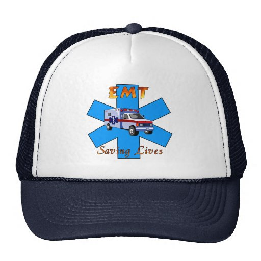 EMT Saving Lives Trucker Hat