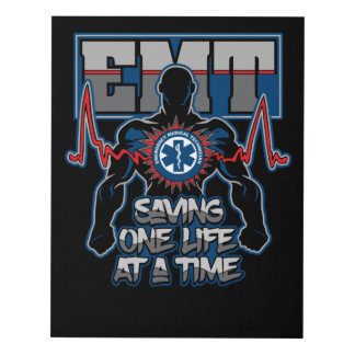 EMT Saving One Live at a Time Panel Wall Art