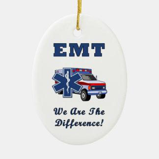 EMT somos la diferencia Adorno Navideño Ovalado De Cerámica