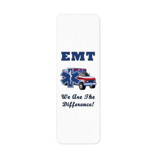 EMT somos la diferencia Etiquetas De Remite